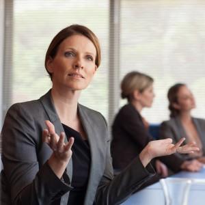 Kvinna på möte